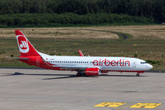Boeing 737 of Airberlin airline on runway Stock Photo