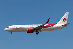 Boeing 737-800 aircraft of the Air Algerie Stock Image