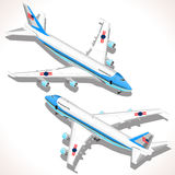 Boeing Aircraft Isometric Airplane Stock Photography