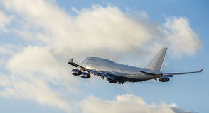 Boeing 747 Aircraft Demarked for Commercial Use Royalty Free Stock Image