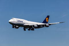 Boeing 747-8 aircraft of the Lufthansa airline Royalty Free Stock Photo