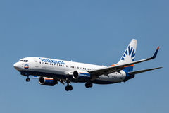 Boeing 737-800 aircraft of the SunExpress airline Royalty Free Stock Photos
