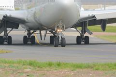 Boeing 747 - 400. A Boeing 747 - 400 aircraft taxiing for take off Royalty Free Stock Photo