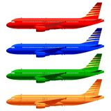 Boeing aircraft template. Boeing aircraft technical drawing in  format Stock Photo
