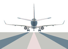 Boeing airliner. Boeing airliner   on white, back view Royalty Free Stock Photography