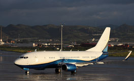 Boeing 737 airplane Royalty Free Stock Images
