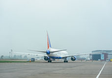 Boeing 767 at the airport. Royalty Free Stock Photos