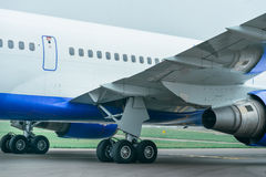 Boeing 767 at the airport. Royalty Free Stock Photo