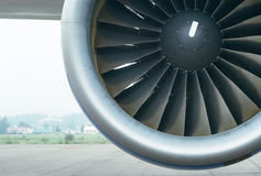 Boeing 767 at the airport. Stock Image