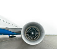 Boeing 767 at the airport. Royalty Free Stock Image