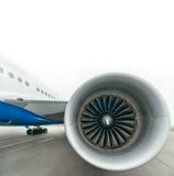 Boeing 767 all'aeroporto Fotografie Stock Libere da Diritti