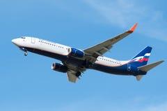 Boeing 737-800 av Aeroflot - ryska flygbolag VP-BPF Arkivfoto