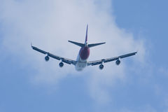Boeing 747-400 av det Qantas flygbolaget Royaltyfri Fotografi