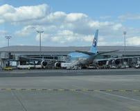Boeing 747 av Korean Air Royaltyfria Bilder