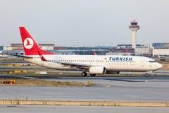 Boeing 737-800 av Turkish Airlines Arkivfoton