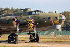 Free Boeing B-17 Flying Fortress US Air Force WW2 Bomber Plane Royalty Free Stock Photo - 160218225