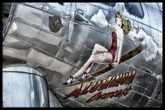 Boeing B-17 flygfästning Arkivfoto