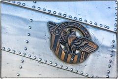 Boeing B-17 flygfästning Arkivbild