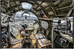 Boeing B-17 Flying Fortress. A Boeing B-17 Flying Fortress operated by the Experimental Aircraft Association out of Oshkosh, Wisconsin flies over Bend, Oregon Royalty Free Stock Photos