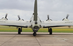Boeing B-17 Flying Fortress on stand at Duxford Royalty Free Stock Photos