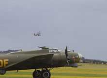 Boeing B-17 Flying Fortress on stand at Duxford Royalty Free Stock Photography