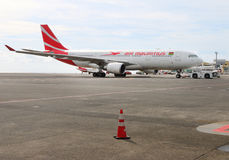 Boeing B777 300/200 LR Air Mauritius Stock Foto