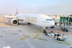 The Boeing B777 300/200 LR Emirates. Stock Photography