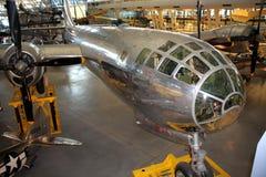 Boeing B-29 Superfortress en el aire y el museo espacial Imagen de archivo libre de regalías
