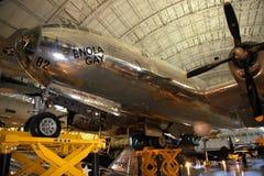 Boeing B-29 Superfortress en el aire y el museo espacial Fotografía de archivo libre de regalías