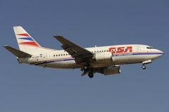 Boeing B737-55S Fotografering för Bildbyråer
