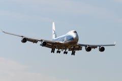 Boeing B747 sprutar ut flygplan Royaltyfri Fotografi