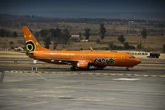 Boeing 737-8BG - Mango - ZS-SJO. Mango (South African Airways) Boeing 737, on the slipway Lanseria International Airport, 26 August 2013 Royalty Free Stock Photo