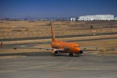 Boeing 737-8BG (plan horizontal) - mangue - ZS-SJO Images libres de droits