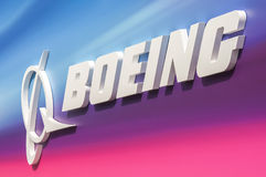 Boeing billboard Royalty Free Stock Photos