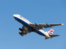 Boeing 747-436 British Airways Royaltyfri Foto