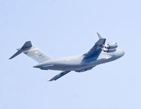The Boeing C-17 Globemaster III military transport aircraft. Performing at Aero India Show 2013 Stock Photography