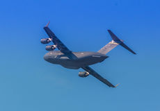 Boeing C-17 GlobemasterIII. US Air Force transport/cargo plane Stock Image