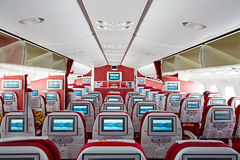 Boeing787 cabin interior Royalty Free Stock Photos