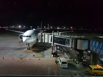 Boeing 777 Catar Airwais fotos de stock royalty free