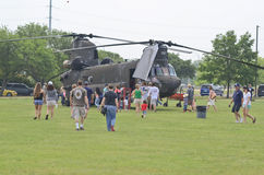 Boeing CH-47 Chinook display Royalty Free Stock Images