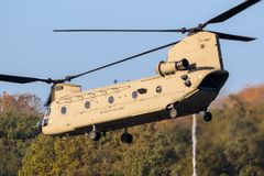 Boeing CH-47 Chinook transporthelikopter Arkivfoton