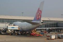 Boeing 747 China Airlines Foto de archivo libre de regalías