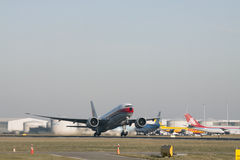 Boeing 777 from china cargo. Royalty Free Stock Photos
