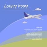 Boeing chmur nad powietrza podróży skrzydła royalty ilustracja