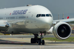 Boeing 777 Close Up stock photography