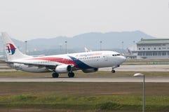 Boeing 737 décollent Images libres de droits