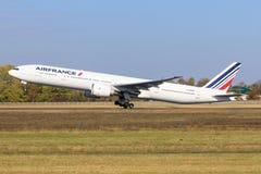 Boeing 777 da Air France fotografie stock libere da diritti