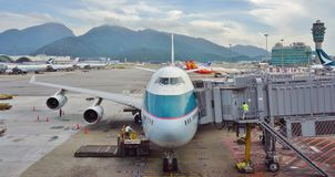 Boeing 747-400 de Cathay Pacific Images stock