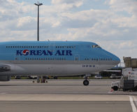 Boeing 747 de Korean Air Images libres de droits