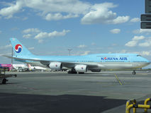 Boeing 747 de Korean Air Photo stock